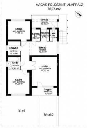 Halászteleki családi ház eladó, 141 négyzetméteres, 2+1 szobás
