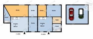 Kecskeméti ház eladó az Árok utcában, 120 négyzetméteres