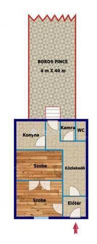 Miskolci családi ház eladó a Toronyalja utcában, 50 négyzetméteres