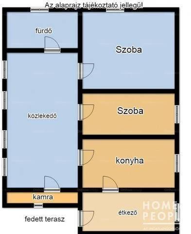 Eladó, Röszke, 2 szobás