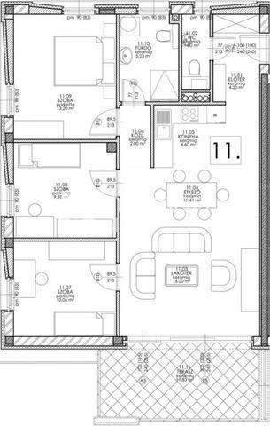 Új Építésű eladó lakás Balatonfüred, 2+2 szobás