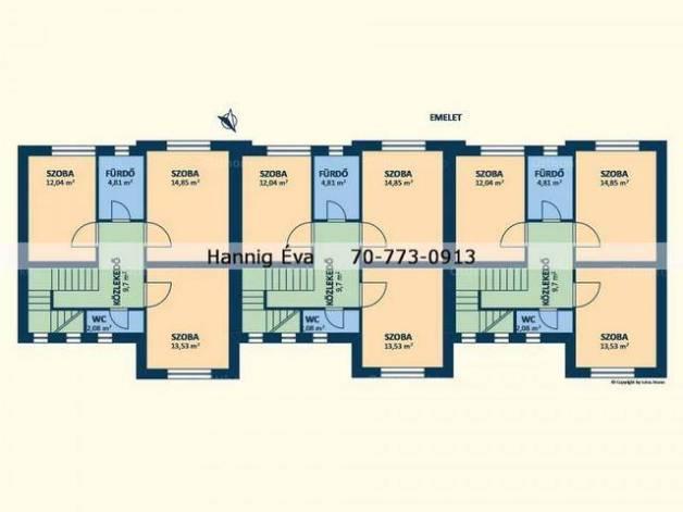 Budapest új építésű sorház eladó, 4+1 szobás