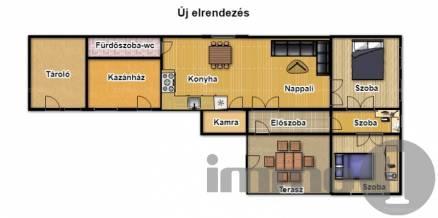 Nagykőrösi családi ház eladó, 125 négyzetméteres, 4+1 szobás