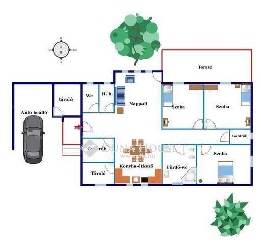 Új Építésű ikerház eladó Érd, a Festő utcában, 125 négyzetméteres