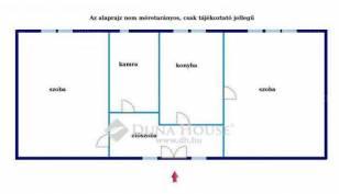 Miskolci családi ház eladó, 54 négyzetméteres, 2 szobás