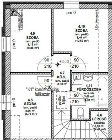 Gödi új építésű sorház eladó, 86 négyzetméteres, 1+3 szobás