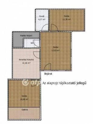 Eladó, Budapest, 3+1 szobás