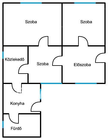 Gönyű ház eladó, 3 szobás