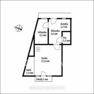 Eladó lakás Óbudán, III. kerület, 1+1 szobás