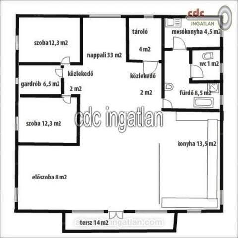 Táborfalvai családi ház eladó, 122 négyzetméteres, 2 szobás