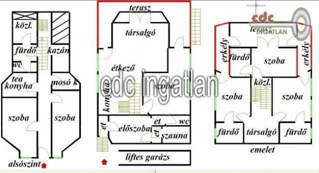 Budapesti családi ház eladó, Adyligeten, Szabadság tér, 6 szobás