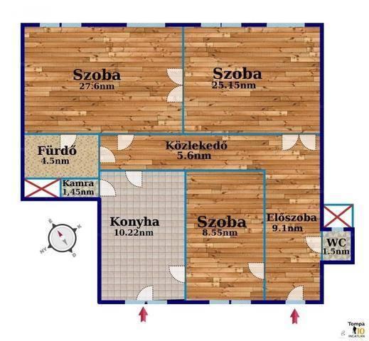 Eladó 3 szobás lakás Tisztviselőtelepen, Budapest, Vajda Péter utca
