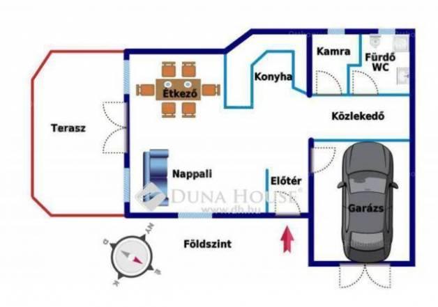 Eladó ikerház Rákoscsabán, XVII. kerület Szánthó Géza utca, 3+1 szobás