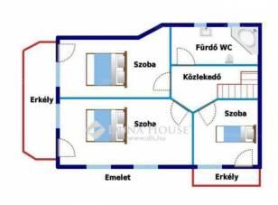 Eladó ikerház Rákoscsabán, XVII. kerület, 3+1 szobás