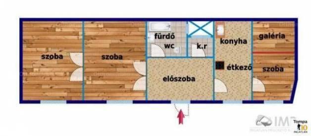 Eladó lakás Belső-Ferencvárosban, IX. kerület Ráday utca, 2+1 szobás