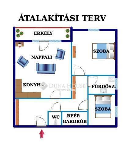 Budapest eladó lakás Alsórákoson a Szugló utcában, 53 négyzetméteres
