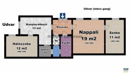 Budapest eladó lakás, Belváros, Párizsi utca, 70 négyzetméteres