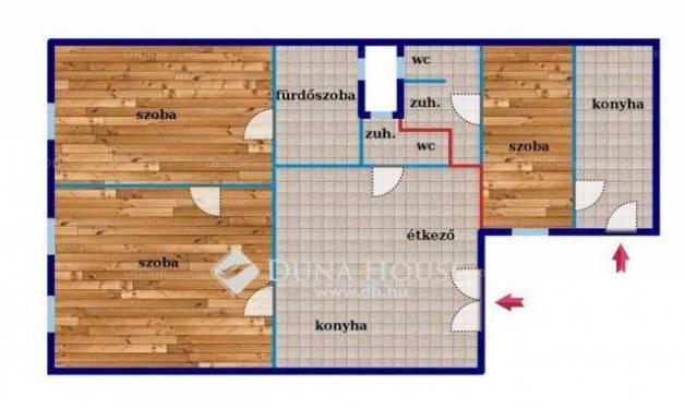 Eladó lakás Erzsébetvárosban, VII. kerület Klauzál utca, 2+1 szobás
