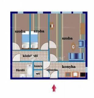 Eladó 1+2 szobás lakás Alsórákoson, Budapest, Nagy Lajos király útja