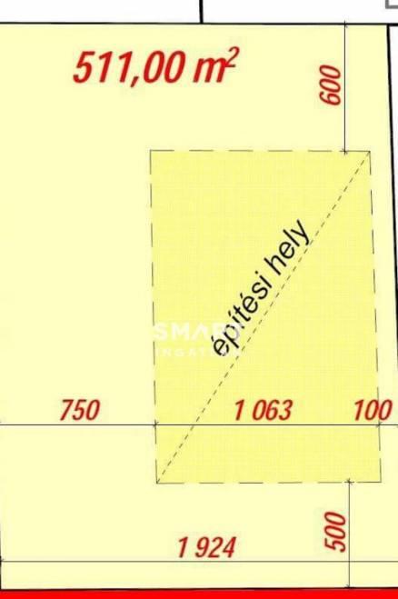 Telek eladó Tárnok, 511 négyzetméteres