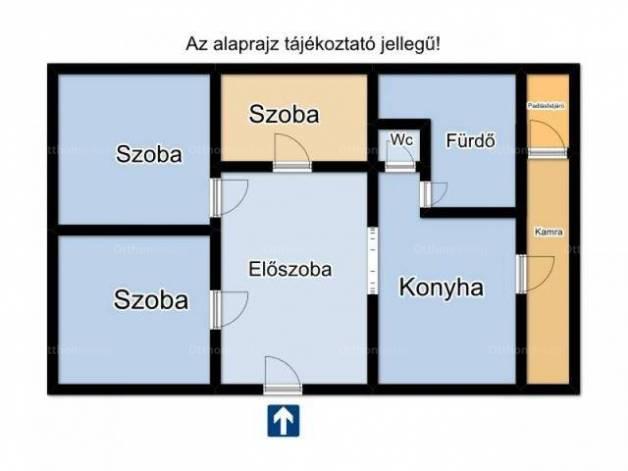 Sándorfalvai eladó családi ház, 2+1 szobás, 90 négyzetméteres
