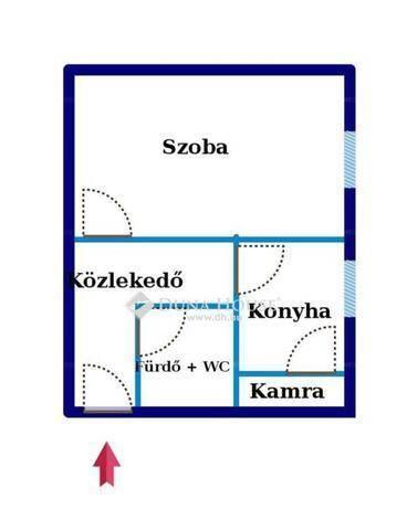 Tatabánya lakás eladó, 1 szobás