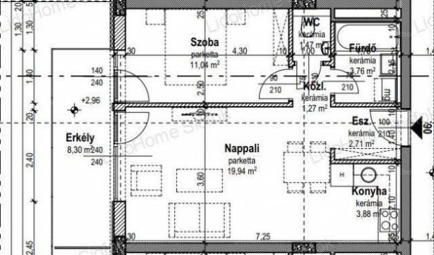 Fonyód új építésű, 2 szobás