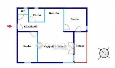 Budapest új építésű, 2+1 szobás