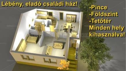 Lébényi eladó családi ház, 5 szobás, 130 négyzetméteres