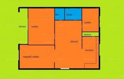 Nyíregyházai eladó lakás, 2+1 szobás