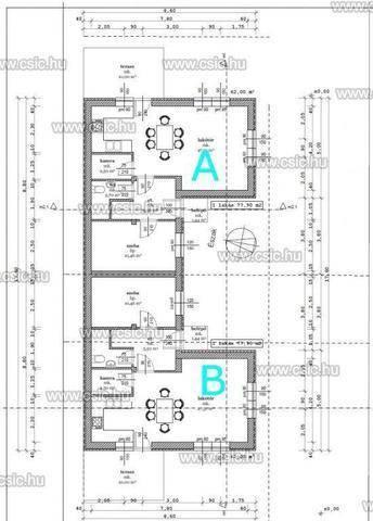 Ikerház eladó Veresegyház, 78 négyzetméteres