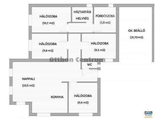 Monor ikerház eladó, 5 szobás