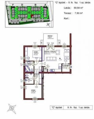 Új Építésű eladó lakás Üllő, 2 szobás