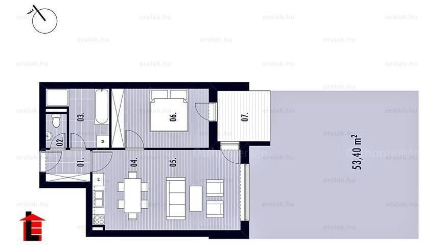 Győri új építésű lakás eladó, 53 négyzetméteres, 2 szobás