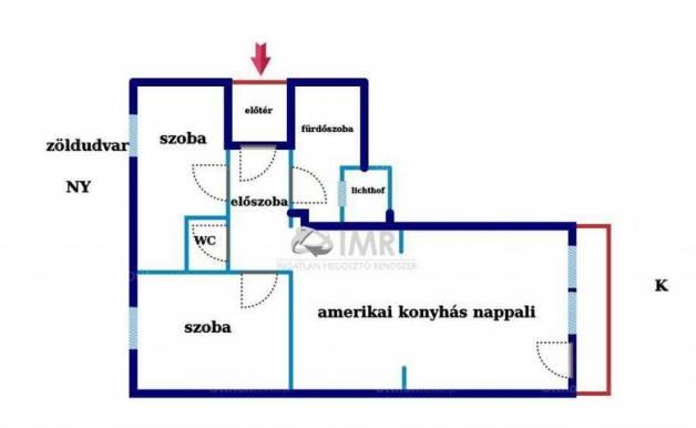 Budapest eladó lakás Újlakon az Árpád fejedelem útján, 64 négyzetméteres