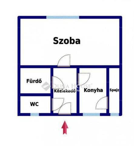 Lakás eladó Tata, a Gesztenye fasoron, 36 négyzetméteres