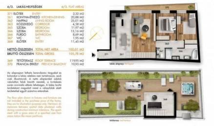 Budapesti új építésű lakás eladó, 100 négyzetméteres, 2+1 szobás