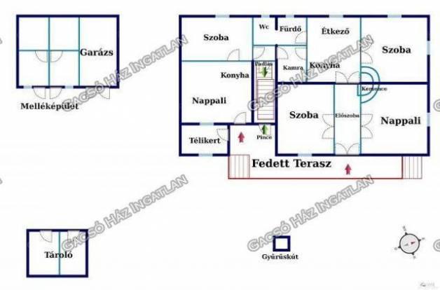 Eladó családi ház, Dány, 5 szobás