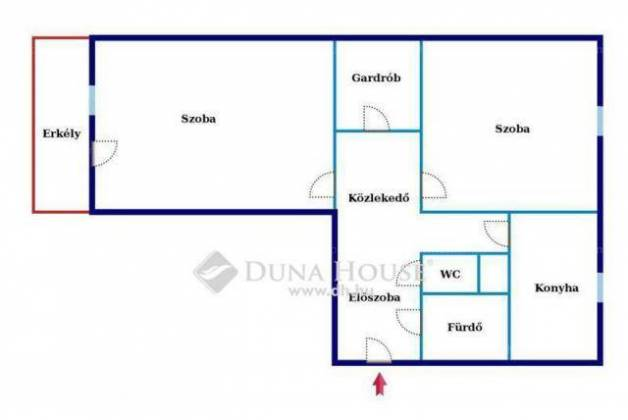 Eladó lakás Miskolc a Szentgyörgy úton, 2 szobás