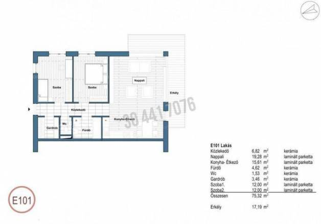 Tatabányai eladó lakás, 3 szobás, 75 négyzetméteres