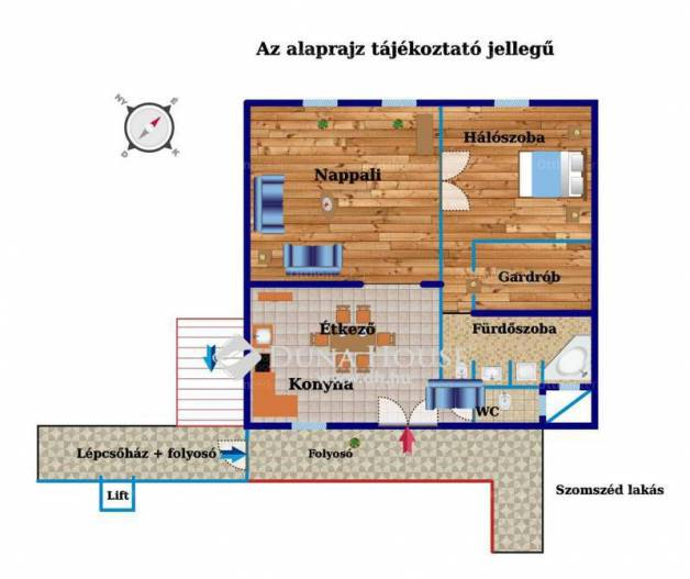Budapesti lakás eladó, Erzsébetvárosban, Peterdy utca, 2 szobás