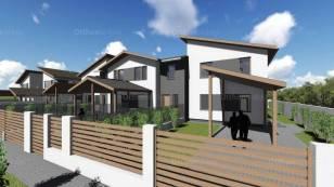 Dunaharaszti új építésű sorház eladó, 3+2 szobás