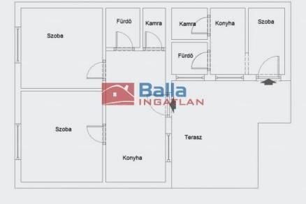Eladó házrész, Budapest, 2+1 szobás