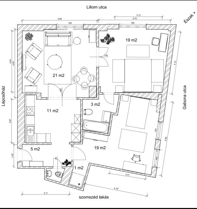 Budapesti lakás eladó, Ferencvárosi rehabilitációs területen, Liliom utca 1/b., 3 szobás