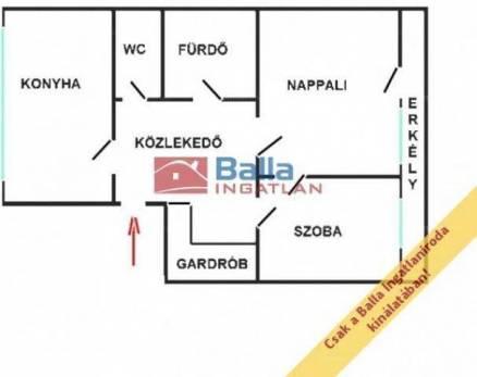 Budapesti eladó lakás, 1+1 szobás, 52 négyzetméteres