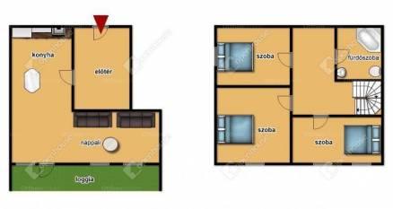 Egeri lakás kiadó, 90 négyzetméteres, 4 szobás
