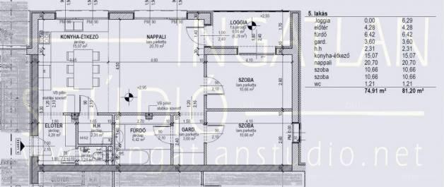 Debrecen új építésű lakás eladó, 1+2 szobás