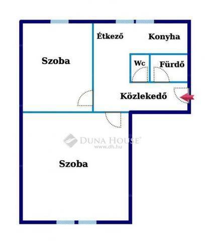Eladó, Kecskemét, 2 szobás