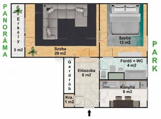 Eladó lakás, Budapest, Alsórákoson, 52 négyzetméteres