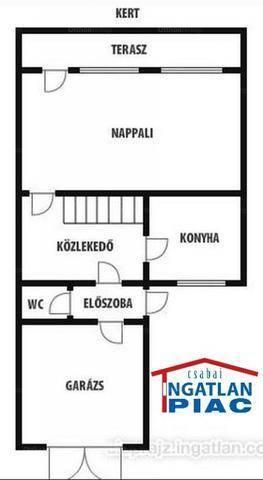 Békéscsaba 2+2 szobás sorház eladó